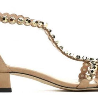 Dámské béžové sandály Dance 9175
