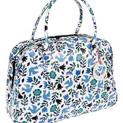 Modrá taška Rex London Folk Dove, délka 48 cm