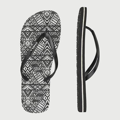 Žabky O´Neill Fw Tropadelic Print Flip Flops Černá