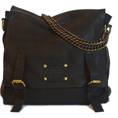 Černá kožená vintage brašna O My Bag Sleazy Jane