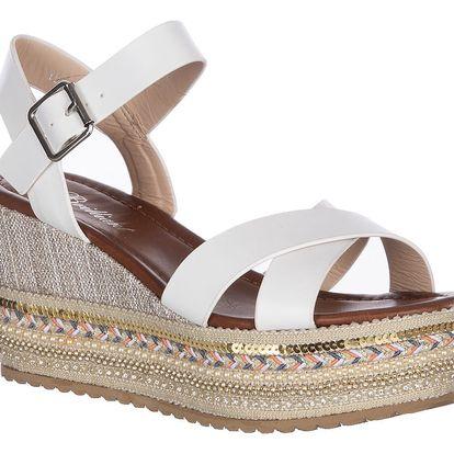 Brilliant Dámské sandály na klínku etno