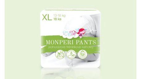 Ekologické jednorázové MonPeri Pants XL (13-18 kg) 18 ks