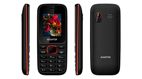 Mobilní telefon Aligator D200 Dual Sim černý/červený (AD200BR)