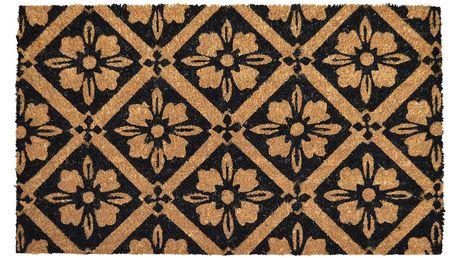 Home Elements Kokosová rohožka Kytičky, 40 x 60 cm