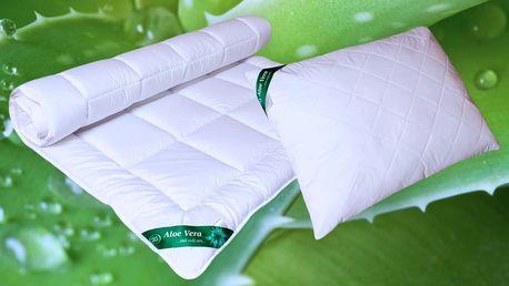Letní i celoroční přikrývky a polštáře s Aloe Vera