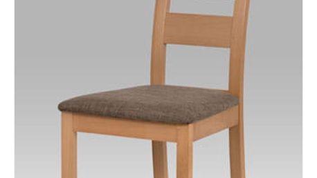 Jídelní židle BC-2603 BUK3 - buk/potah hnědý