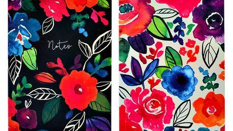 Sada 2 zápisníků Portico Designs Bold Floral,100stránek