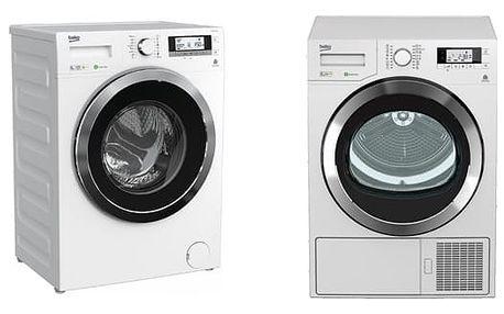 Set (Sušička prádla Beko DPY 8506 GXB1) + (Automatická pračka Beko Superia WMY 81443 STB1) + DOPRAVA ZDARMA