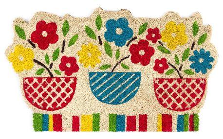 Trade Concept Kokosová rohožka Květiny barevná, 45 x 75 cm
