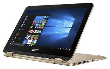 Notebook Asus VivoBook Flip 12 TP203NA-BP034TS zlatý + dárky (TP203NA-BP034TS)
