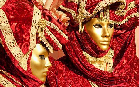 Itálie Benátky karneval 2019 s výlety lodí na ostrovy Murano, Bur...