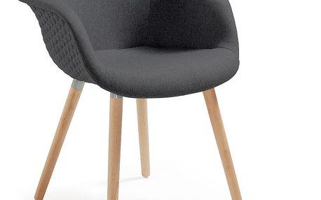 Sada 2 tmavě šedých jídelních židlí La Forma Kenna