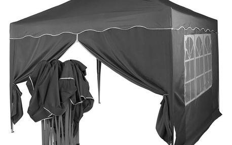 Tuin 36864 Zahradní párty stan nůžkový 3x3 m + 2 boční stěny - antracit