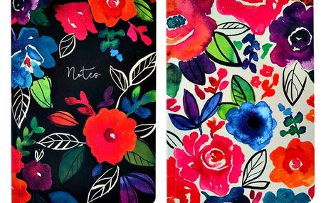 Sada 2 zápisníků A5 Portico Designs Bold Floral,100stránek