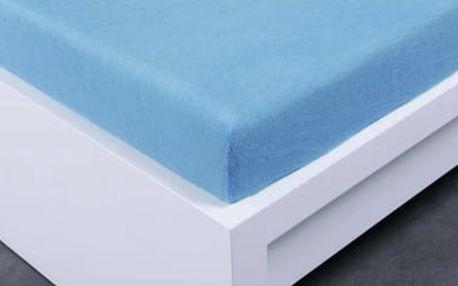 XPOSE ® Froté prostěradlo dvoulůžko - světle modrá 180x200 cm
