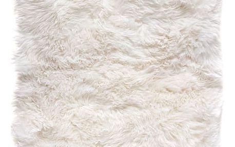 Bílý koberec z ovčí kožešiny Royal Dream Zealand, 140x70cm
