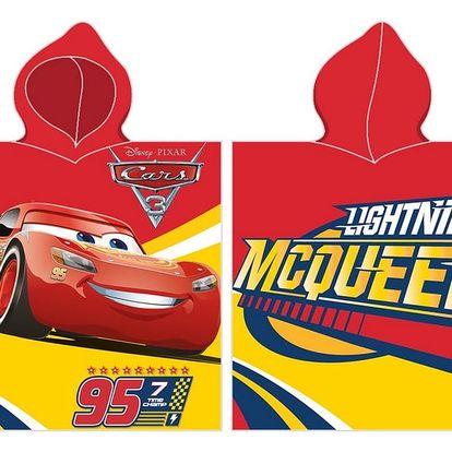 BedTex Dětské pončo Cars McQueen červená, 50 x 100 cm