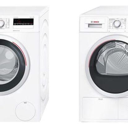 Set (Sušička prádla Bosch WTH85207CS) + (Automatická pračka Bosch WAN28260CS) + DOPRAVA ZDARMA