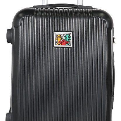 Tmavě šedý příruční kufr LULU CASTAGNETTE Darwin, 44l