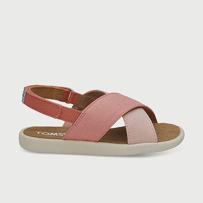 Sandály Toms Hibiscus Multi Cnvs Tn Viv Sand Růžová