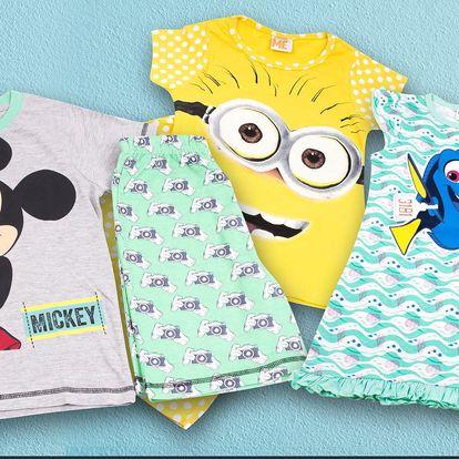 Krátká dětská pyžama a košilky: Filmové motivy
