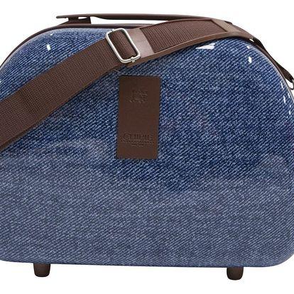 Tmavě modrý příruční kufr LULU CASTAGNETTE Sky, 17l