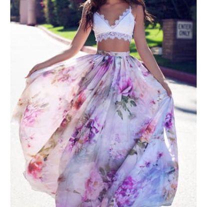 Lehká květinová sukně Savana - 4 barvy