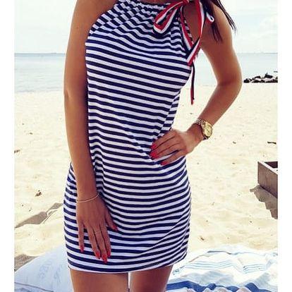 Letní proužkované šaty Sindy