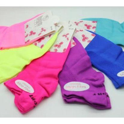 Neonové kotníkové ponožky Micro Fibra 2 páry