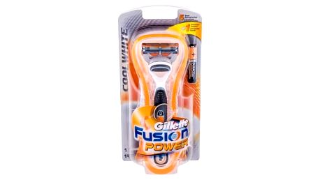 Gillette Fusion Power Cool White 1 ks holicí strojek pro muže