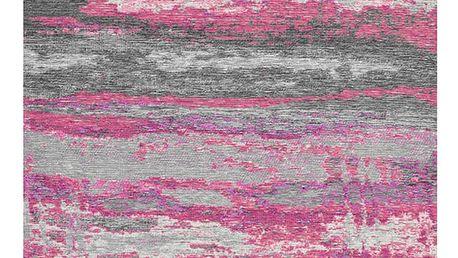 Šedorůžový koberec Kate Louise Vintage, 80x150cm