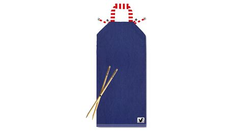 Tmavě modré plážové lehátko Origama Stripes