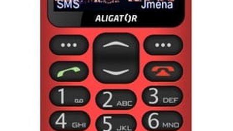 Mobilní telefon Aligator A880 GPS Senior červený (A880RD)