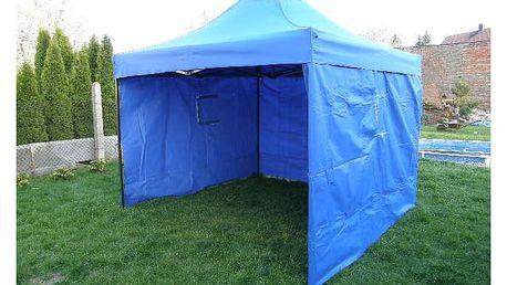 Tradgard DELUXE 41057 Zahradní párty stan nůžkový + boční stěny - 3 x 3 m modrá