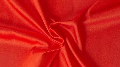 Kvalitex prostěradlo satén červené, 90 x 200 cm