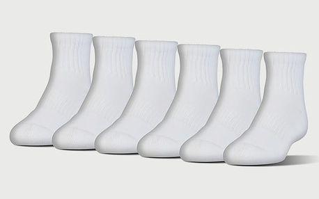 Ponožky Under Armour Charged Cotton 2 Quarter Bílá