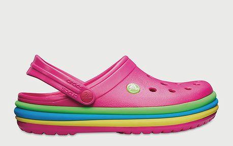 Pantofle Crocs CB Rainbow Band Clog Cdy Pink Růžová