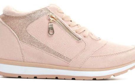 Dámské růžové tenisky na klínku Valleria 8368