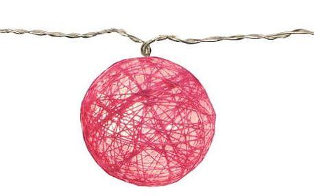 Růžový světelný LED řetěz Best Season Jolly Lights, 10 světýlek