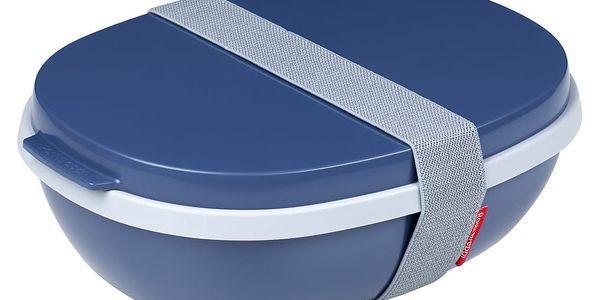 Tmavě modrý obědový box Rosti Mepal Ellipse