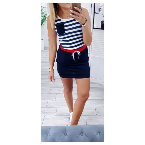 Námořnické šaty s kapsičkou Ellie