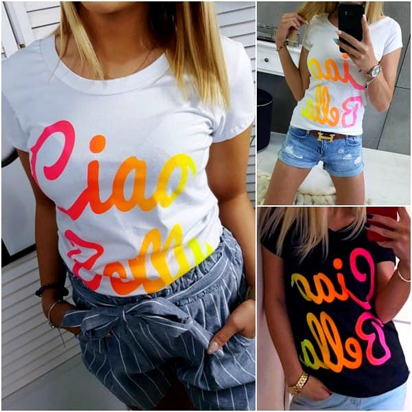 Dámské tričko s nápisem Ciao Bella