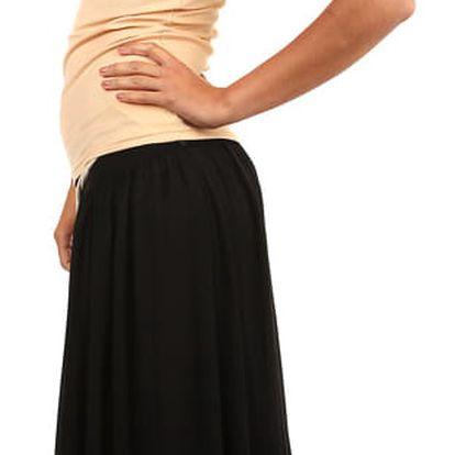 Romantická dámská maxi sukně černá