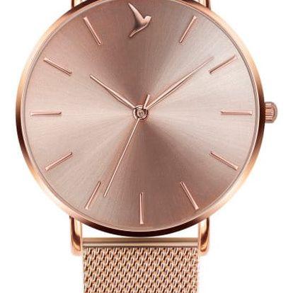 Dámské hodinky s páskem z nerezové oceli v růžovozlaté barvě Emily Westwood Top
