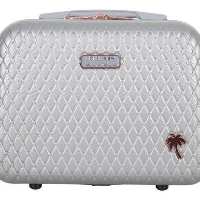 Světle šedý příruční kufr LULU CASTAGNETTE Rachel, 17l