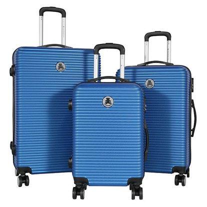 Sada 3 modrých cestovních kufrů LULU CASTAGNETTE Mia