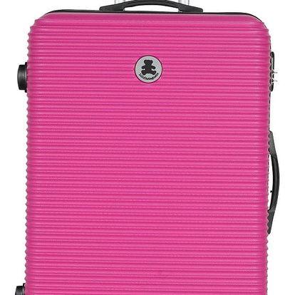 Růžový cestovní kufr LULU CASTAGNETTE Lucy, 107l