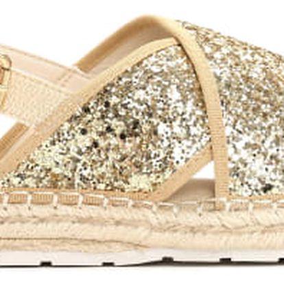 Dámské zlaté sandále Goldie 6134