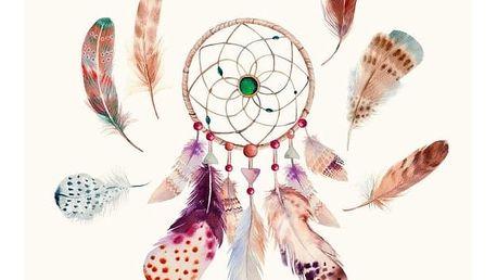 Plážová osuška s potiskem HIP Feathers, 100 x 180 cm