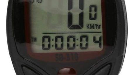 Voděodolný LCD cyklopočítač - tachometr na kolo